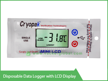 Disposable Data Logger with LCD display VackerGlobal