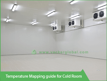 Vacker temperature mapping guide for coldroom