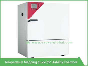 Vacker temperature mapping guide for stability chamber