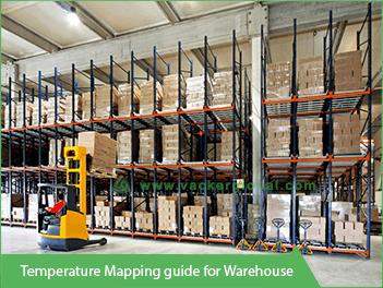 Vacker temperature mapping guide for warehouse